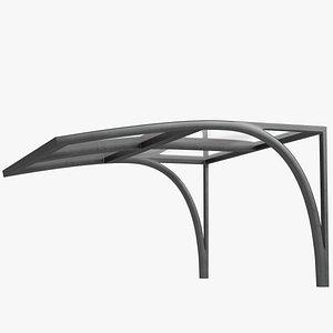 Acrylic canopy 3D model