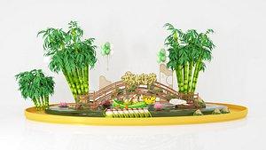 3D Dragon Boat Festival Supermarket Display Dragon Boat Meichen Photo Interaction May Dragon Boat Festi
