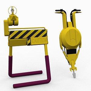 Hill Valley 2015 Sci Fi road work equipment 3D model