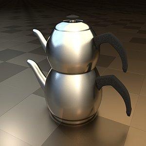 Traditional Turkish Tea Pot 3D