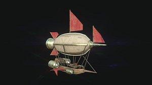 steampunk airship - aircraft model
