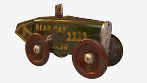 3D model vintage tin toy racer