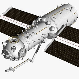 3D Tianhe Space Station model