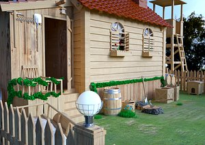 3D model cute wooden house