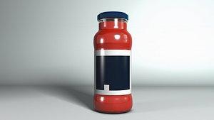 3D model tomato bottle 0001