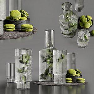 3D Olive water model