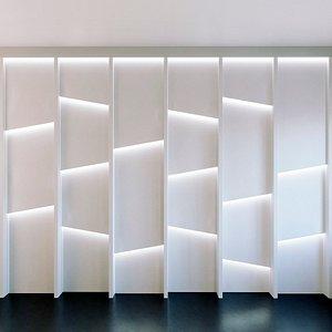 3D wall panel set 160