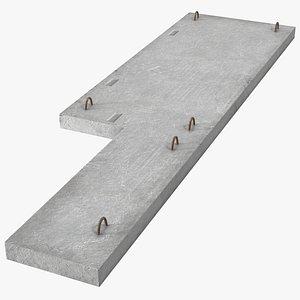 floor concrete panel 3D model