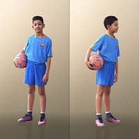 10540 Amal - Boy Standing With Soccer Ball