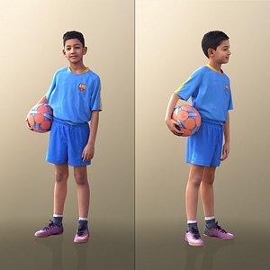 boy soccer standing 3D
