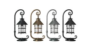 3D lamp antique outdoor