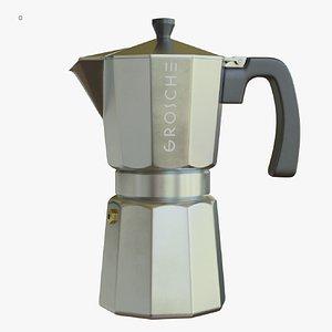 3D model moka pot espresso