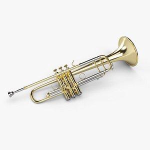 3D bach stradivarius 180s37 trumpet model