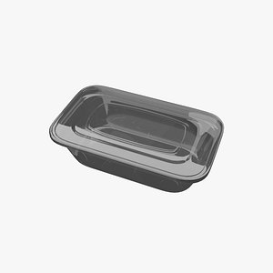 3D model plastic clear container