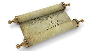 ancient scroll 2 3D model