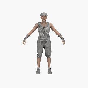 3D Female Pirate model
