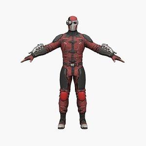3D batman hero model