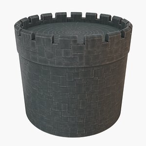 3D stone tower