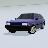 VW Gol Quadrado Low Poly