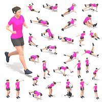 30 Woman Exercise Pack vol 2
