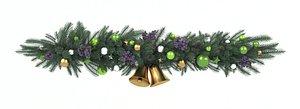 3D garland holiday model