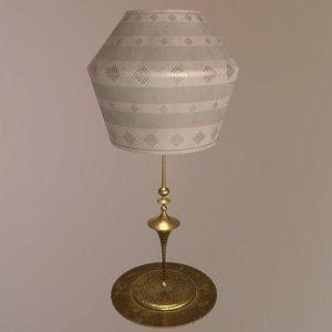 3D lamp brass model