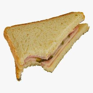 ham cheese sandwich 01 model