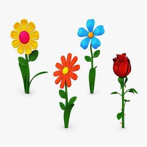 cartoon flower volume 1 model