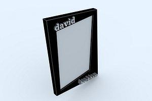 frame 1 david beckham 3D model
