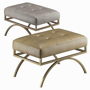 3D Baker Arc bench by Barbara Barry model