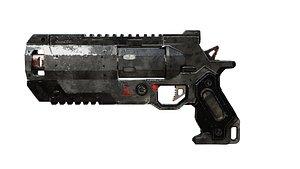 3D Gun Low-Poly