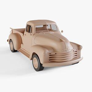 chevrolet pickup 1951 3D model