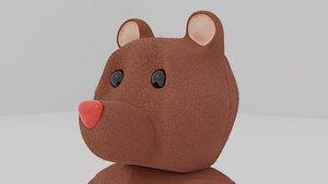 simple teddy bear 3D model