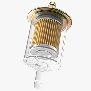 3D model Universal Inline Fuel Filter with Metal Cap