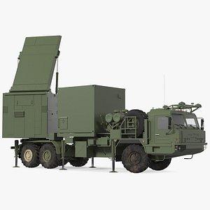3D model mobile tracking radar vityaz