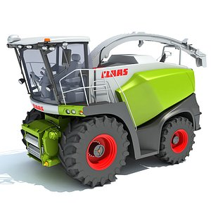 Claas Jaguar Combine Harvester 3D model