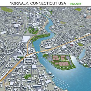 Norwalk Connecticut USA 3D model