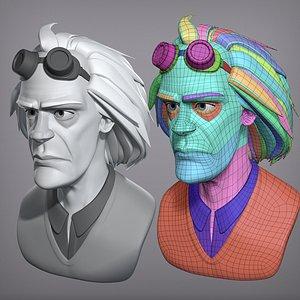3D model Cartoon male character Christopher base mesh