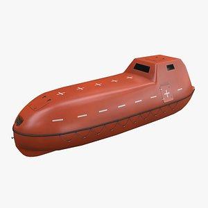 orange rescue ship 3D
