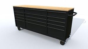 3D Workbech Storage Tools Trolley 2