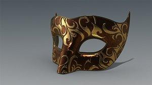 low-poly mask 3D model