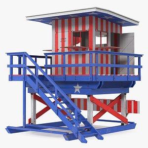 Beach Lifeguard Stand model