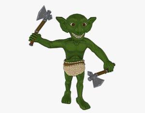 troll axe 3D