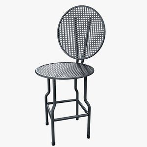 Metal Garden Chair 3D model