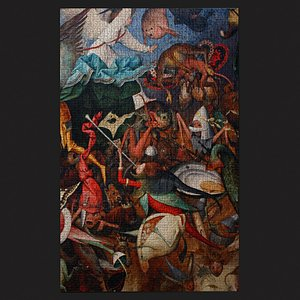 3D Fall of the Rebel Angels Version 2 Tapestry