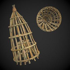 Bamboo Fish Trap model