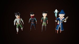 Low Poly Fantasy Character Pack model
