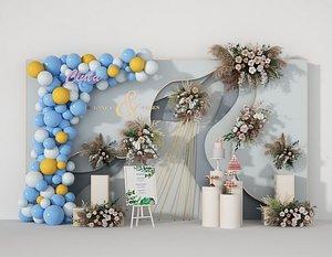 wedding balloon lobby 3D model