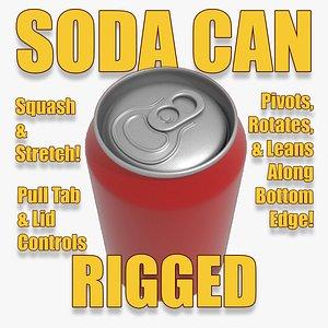 rigged soda 3D