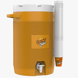 Drinks Cooler With Cup Dispenser 3D